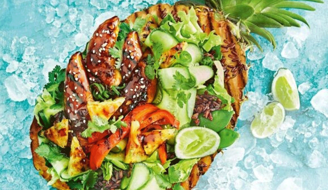 Sticky Chicken Salad Bowl Recipe