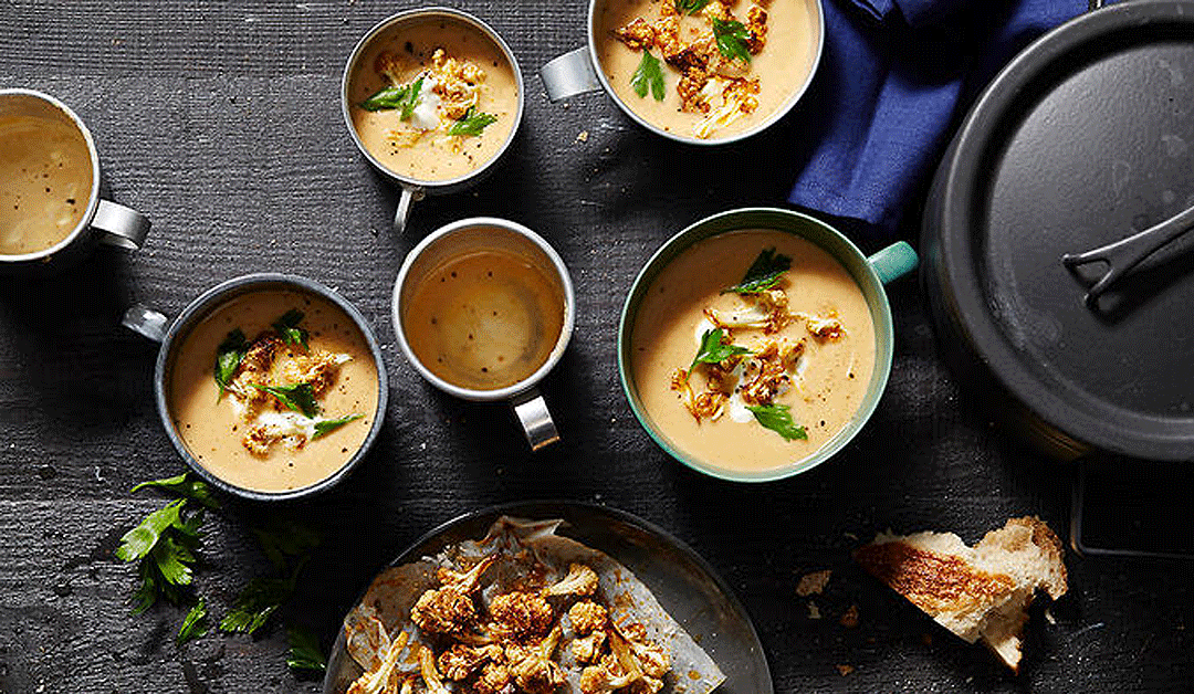 Modern Middle Eastern Spicy Cauliflower Soup
