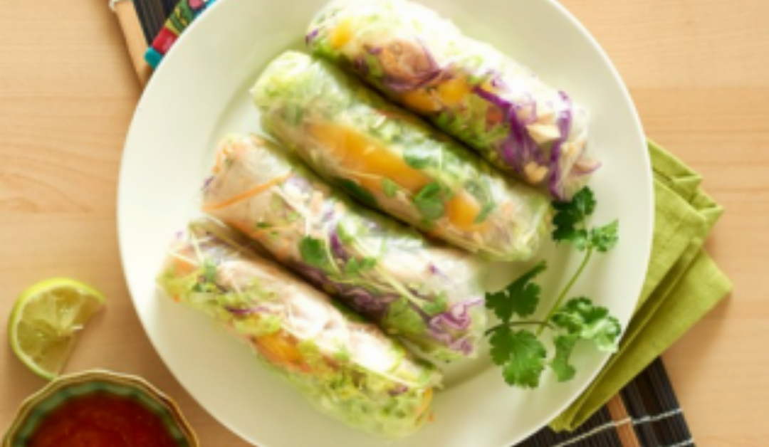 Health Recipe – Easy Mango & Chicken Rice Paper Rolls